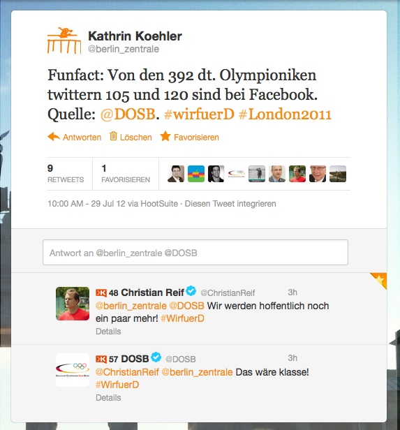 Olympische Spiele Twitter und Facebook: Nachholbedarf in Deutschland