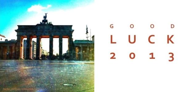 Good Luck 2013: So richtig gedruckte Karten von Kathrin Koehler